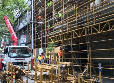 Infrastructure development surge drives record month for Acrow scaffolding services